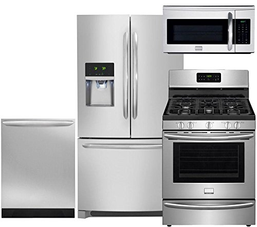 (Frigidaire 4-Piece Smudge-Proof Stainless Steel Package, FGHF2366PF 36