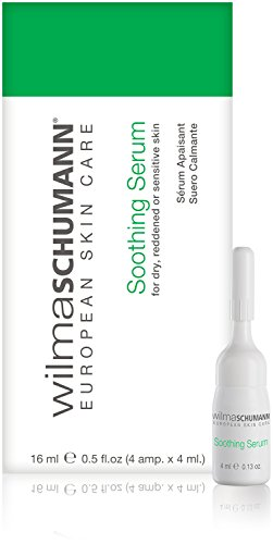 WILMA SCHUMANN Soothing Serum, 0.5 Ounce/16 Milliliter (4 Ampoules per 4 Milliliter) – Hydration for Dry, Reddened and Sensitive Skin
