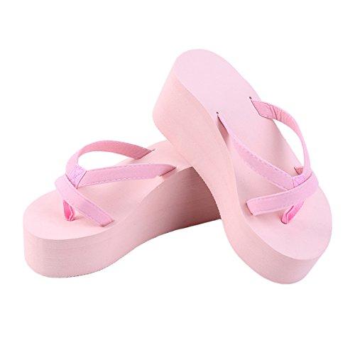 Tongs Chaussures Femme Claquettes Lalang Rose Plage de Sandales c7UfWPWOa