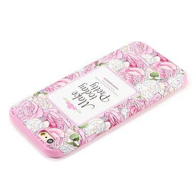 Fundas y estuches para teléfonos móviles, Para la caja de la contraportada del patrón de la cubierta del caso del iphone 7 7plus de la manzana la palabra / la flor suave de la ( Modelos Compatibles :  IPhone 6s/6