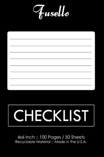 Checklist: 4x6 Pocket Checklist Notebook from Fusello