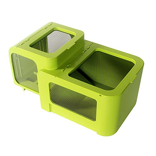 CONOMOYPET Amphibian Reptile Tank House Terrarium Feeding Box for Frogs Salamanders Turtles Tortoise Toads Spiders Lizards and Crabs by CONOMOYPET