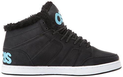 SHR Convoy Shoe Black Skate Mid Lightblue Osiris z6wdEE