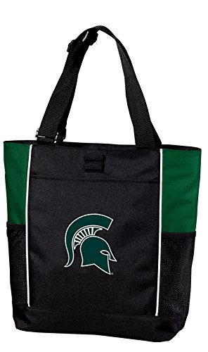 State Michigan Tote (Broad Bay Michigan State Tote Bag Colorblock Michigan State University Totes Beach Pool Or Travel)