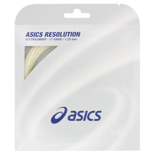 ASICS 51129-02-17:SET Resolution Multi Filament 17G Tennis String (Racquet String Tension)