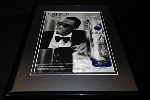 Original Vodka (Puff Daddy 2008 Ciroc Vodka 11x14 Framed ORIGINAL Advertisement P Diddy)