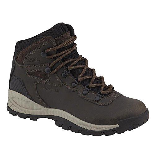 Columbia Women's Newton Ridge Plus Hiking Boot, Cordovan/Crown Jewel, 8 M (Brown Leather Hiking Boots)