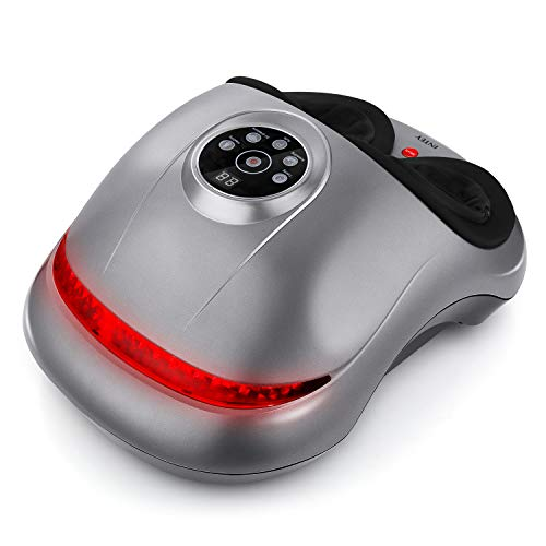 INTEY Shiatsu Foot Massager with Switchable Intensity Settings, Electric Feet Massager with Air Compression and Deep Kneading Function for Plantar Fasciitis at Home and Office