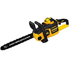 "The DEWALT DCCS690X1 40V MAX Brushless Chainsaw delivers the performance of gas with the convenience of battery. Equipped with a powerful brushless motor and a 16"" bar, this chainsaw glides through a variety of cutting diameters with the cut ..."