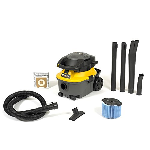 WORKSHOP Wet Dry Blower Vac WS0400DE Portable Wet Dry Vacuum Cleaner And Blower, 4-Gallon Leaf Blower Vacuum Cleaner, 6.0 Peak HP Small Shop Vacuum And Blower