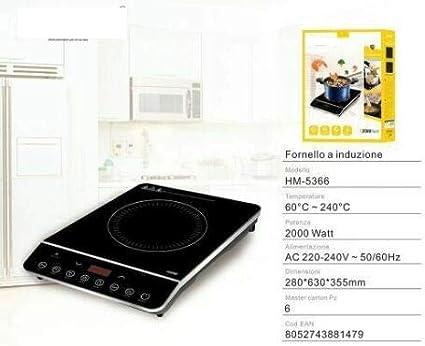 HM-5366 - Placa de inducción eléctrica de 200 W para cocinar ...