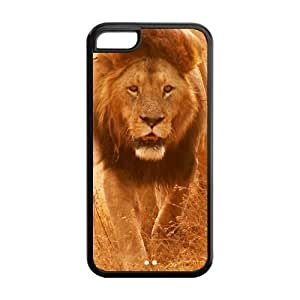 MEIMEI ipod touch 5 Phone Cases, Lion Hard TPU Rubber Cover Case for ipod touch 5LINMM58281
