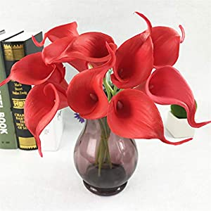 NszzJixo9 20Pcs Mini Artificial Calla Lily Fake Flower Wedding Home Decor Bouquet Beautiful vase Decor Bouquet 71