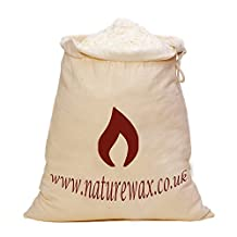 1 KILO Naturewax.co.uk Soy CONTAINER Candle wax Flakes in branded storage bag. by NatureWax