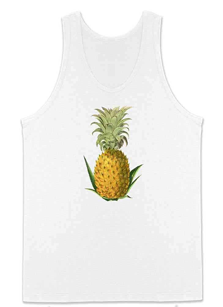 Pop Threads Pineapple Retro Mens Tank Top