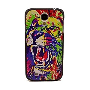 TOPMM Watercolors Tiger Head Pattern Hard Case for Samsung Galaxy S4 I9500