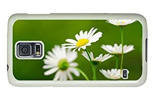 Hipster Samsung Galaxy S5 Case sparkle covers daisies white PC White for Samsung S5 by lolosakes