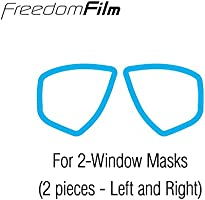 TUSA Freedom Film Anti-Fog Sheets 2 window mask TA-200A Clear
