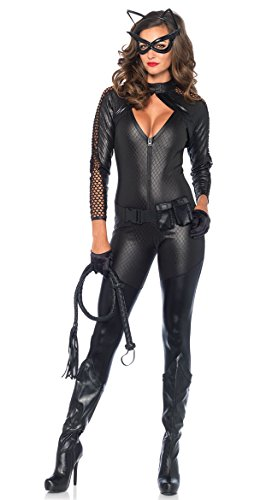 Leg Avenue Women's 4 Piece Wicked Kitty Costume, Black, Large ()