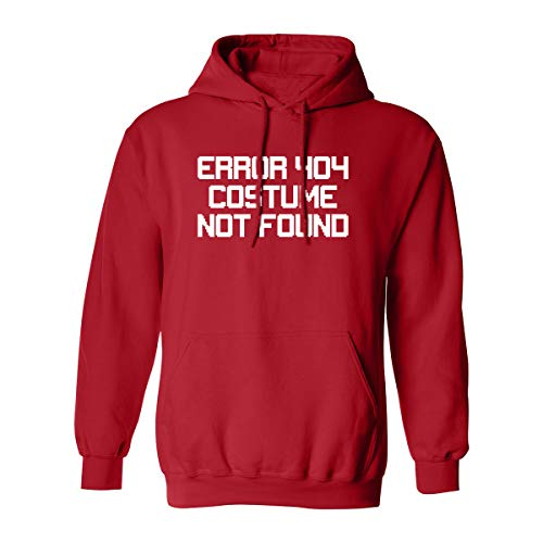 Error 404 Costume NOT Found Adult Hooded Sweatshirt in Red - -
