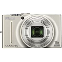 Nikon COOLPIX S8200 16.1 MP CMOS Digital Camera with 14x Optical Zoom NIKKOR ED Glass Lens and Full HD 1080p Video (Silver) Basic Facts Review Image