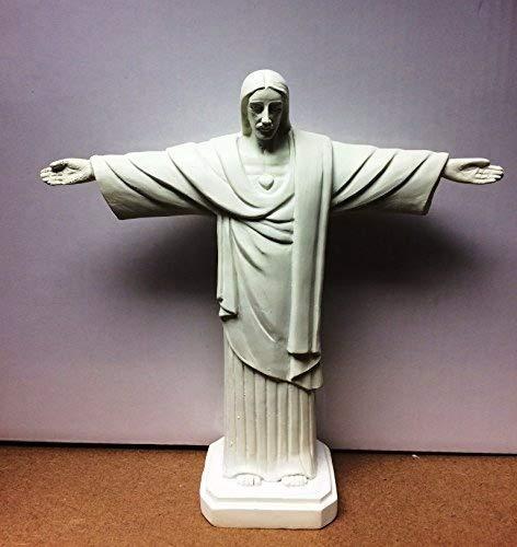 Reproduction du Christ J/ésus Redeemer Seigneur Saviour Statue Figurine Blanc