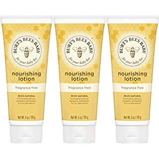 Burt's Bees Baby Nourishing Lotion, Fragrance Free, 6 Ounces, 3 count (Packaging May Vary)