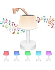 LHMZNIY Smart Touch Night Light with Bluetooth Music Speaker, LED Mood Light Dimmable Color Changing RGB Bedside Lamp for Bedroom, Best Gifts for Children Kids