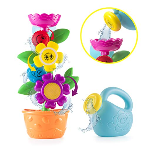 Playboom Baby Bath Toy - Flower Waterfall Water Station Fun and Educational Bath, Enhance Your Baby's Thinking Ability and Creativity Time,Flower Birthday Gift ,Great Toy for Boys - Girls-Toddlers