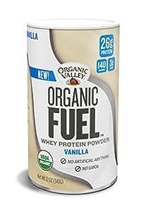 Organic Valley Fuel Whey Protein Powder, Vanilla, 12 oz