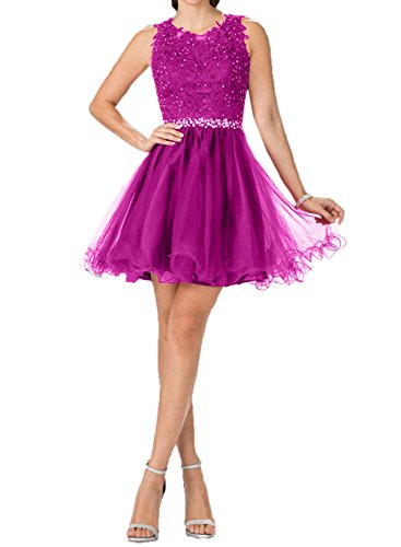 Pink Tanzenkleider Promkleider Partykleider Charmant Gruen Cocktailkleider Mini Hell Spitze Damen Kurzes 6W7gF1TO