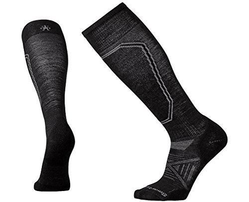 Smartwool Men's PhD Ski Light Black - Warmers Smartwool Knee