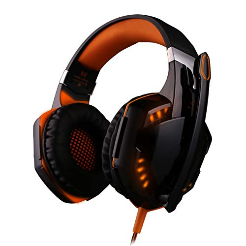 ZDZHU Stereo Gaming Headset for PS4/PC/Xbox One Controller, Noise Cancelling Over Ear Headphones with Mic, Bass Surround, Soft Memory Earmuffs, for Computer,B