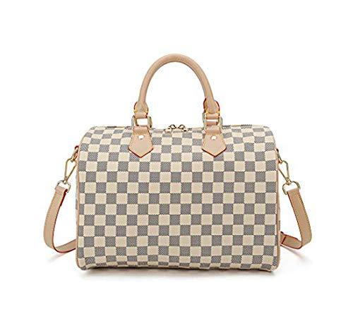 (Women Purses and Handbags Crossbody Small Shoulder Bag Top Handle Tote Wallet White)