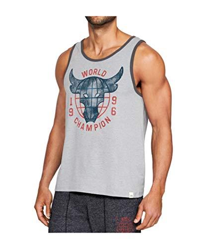 Under Armour Men's UA x Project Rock World Champ Sleeveless Tank Top Shirt (Large)