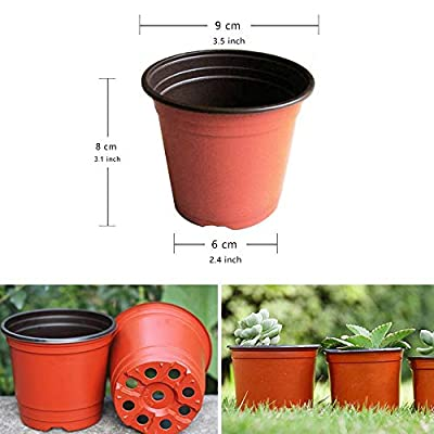 VIDELLY 50 Pieces Plastic Pots - 3