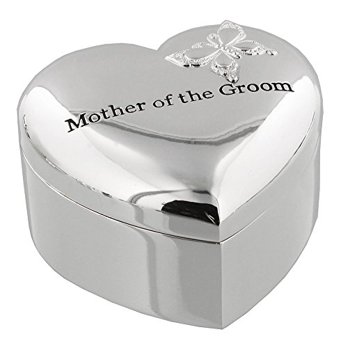 Silver Plated Mother Of The Groom Heart Shaped Gift Box By Haysom Interiors
