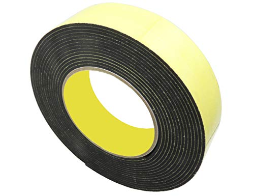 (LBY 2pcs Single Sided Sponge Tape Adhesive Sticker Foam Glue Strip SealingFoam Seal Tape 35 x 2mm Self Adhesive Shockproof Tape Single Sided Foam Tape 5M)