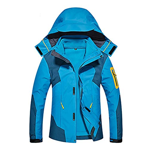 Impermeables 3 Transpirables azul Mujer Wanpul Hombre Outdoor Trekking Montaña Chaqueta En Mujer 1 BW6TFq