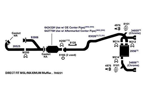 AP Exhaust MSL Maximum Muffler 700221 Maximum Muffler