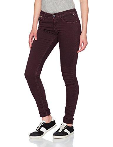 REPLAY Luz Coin Zip, Jeans Ajustados para Mujer Rojo (Bordeaux 10)