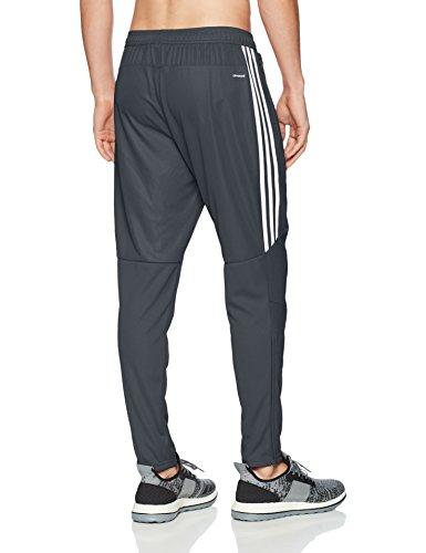 adidas Men's Soccer Tiro 17 Pants, Small, Dark Grey/White/White by adidas (Image #2)