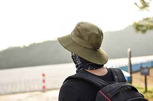 anaoo Chapeau Homme, Chapeau de Soleil, Chapeau Eté Pliable, Casquettes Visières Anti-UV, Séchage Rapide et Protection… 4