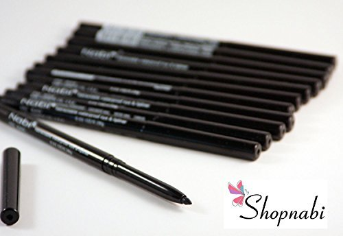12pcs Nabi Retractable Waterproof Black Eyeliner  by Nabi Co
