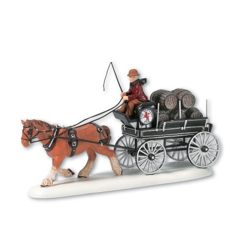 Department 56 Dickens' Village Red Lion Pub Beer Wagon Miniature Lit Building