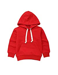 LIKESIDE Autumn Children Kid Boy Solid Pocket Pullover Hooded Hoodie Outfit Tops