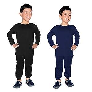 FAIQA Thermal Wear Top Pajama Set of 2 for Boys Girls Kids Baby