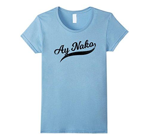 6f0b919db Womens Funny Filipino T-Shirt - Ay Nako OMG Tail Script Tee Large Baby Blue