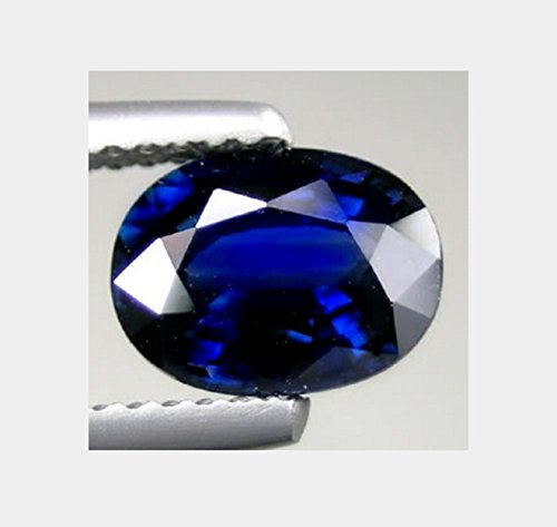 Blue Sapphire Doublet - 8x6 mm. Natural Antique Oval Crown Blue Sapphire Doublet Loose Gem
