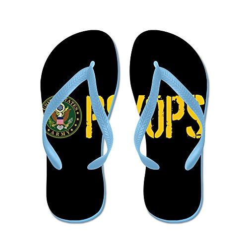 Cafepress Us Army: Psyops (black & Gold) - Chanclas, Sandalias Thong Divertidas, Sandalias De Playa Caribbean Blue